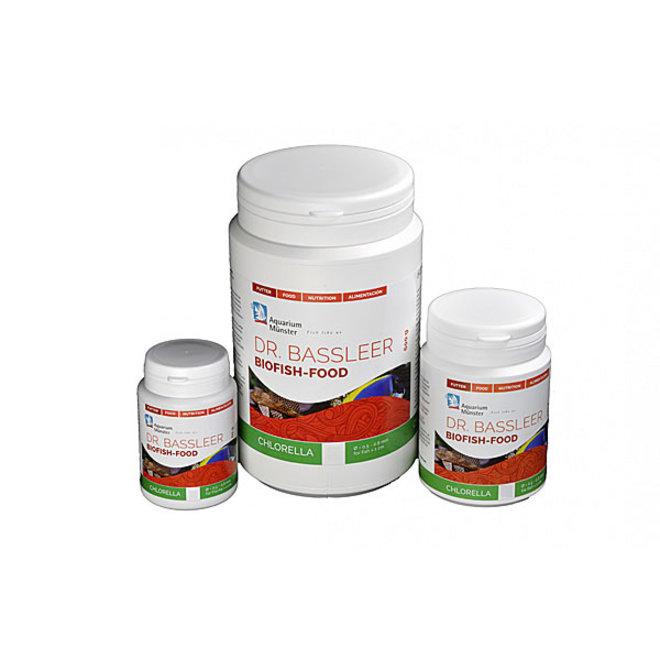 Dr. Bassleer Biofish Food chlorella XL 170 gram, granulaatvoer