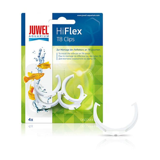 Juwel HiFlex reflector clips T8, 4 stuks