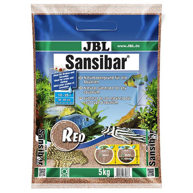 JBL Sansibar Red 5 kg, fijne rode bodemgrond