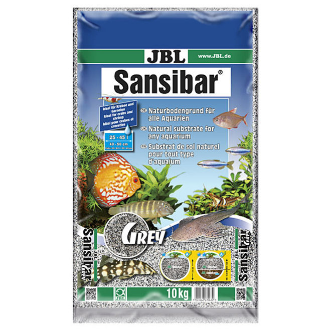 JBL Sansibar Grey 10 kg, fijne grijze bodemgrond