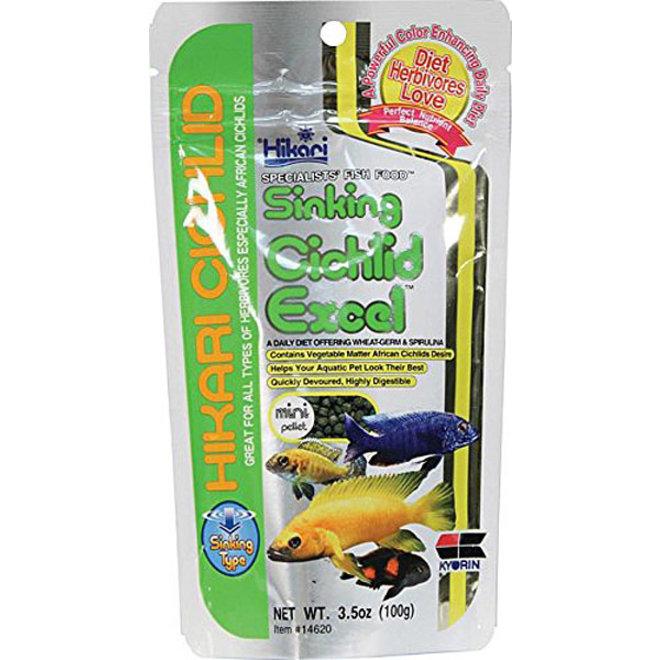 Hikari Cichlid Excel Mini pellet 100 gram, zinkende pellets