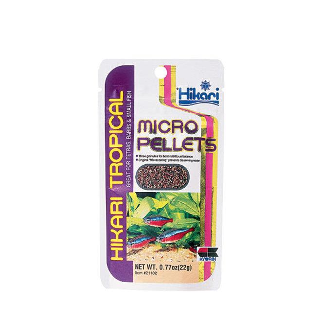 Hikari Tropical Micro Pellets 22 gram, langzaam zinkend granulaatvoer