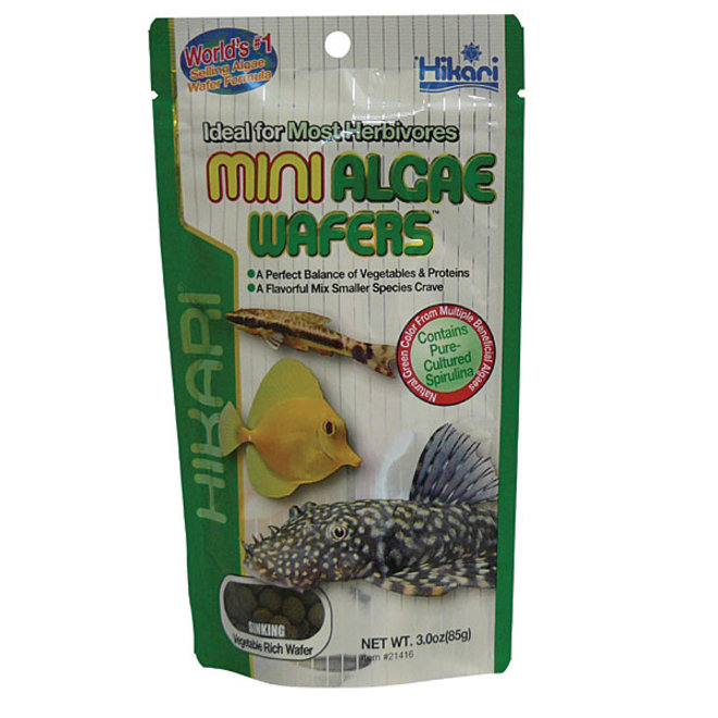 Hikari Mini Algae Wafers 85 gram, zinkende wafers