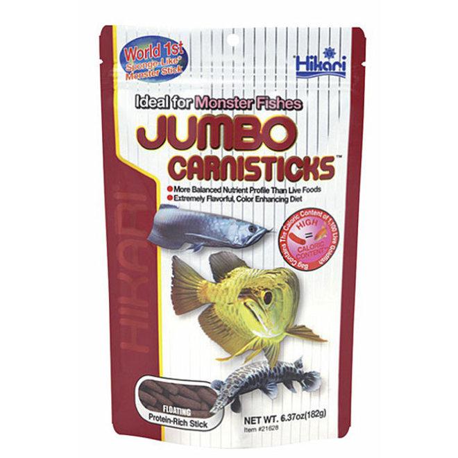 Hikari Tropical Jumbo Carnisticks 182 gram, drijvende sticks