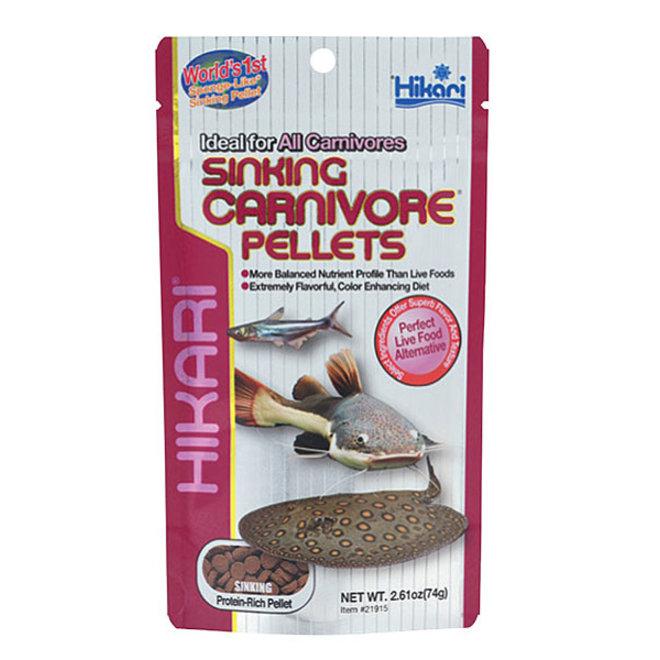 Hikari Tropical Sinking Carnivore pellet 74 gram, zinkende pellets