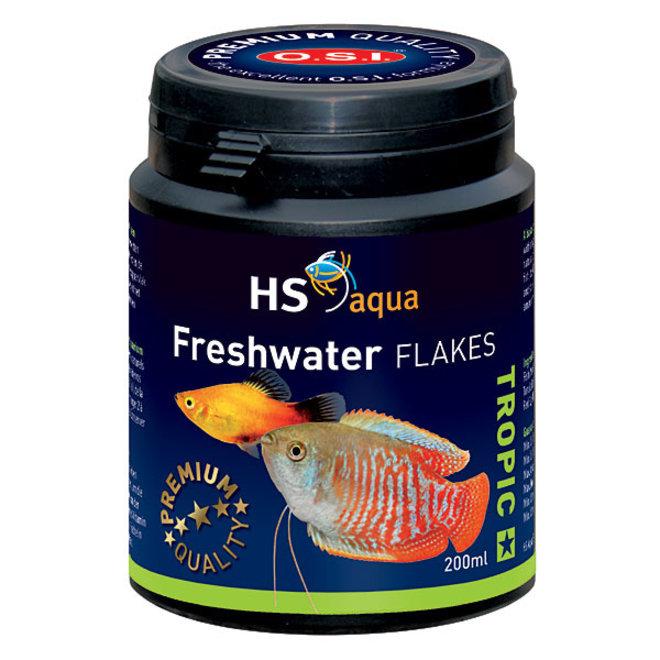 HS Aqua / O.S.I. Freshwater flakes 200 ml/35 g, vlokkenvoer