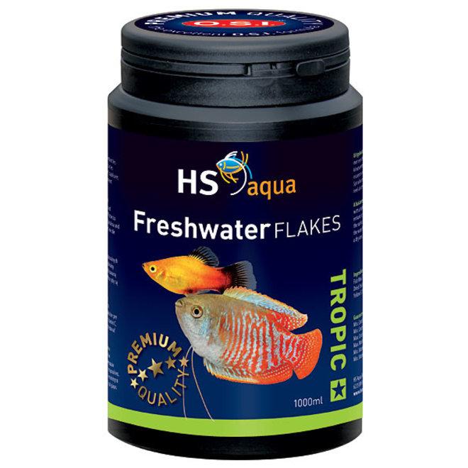 HS Aqua / O.S.I. Freshwater flakes 1000 ml/200 g, vlokkenvoer