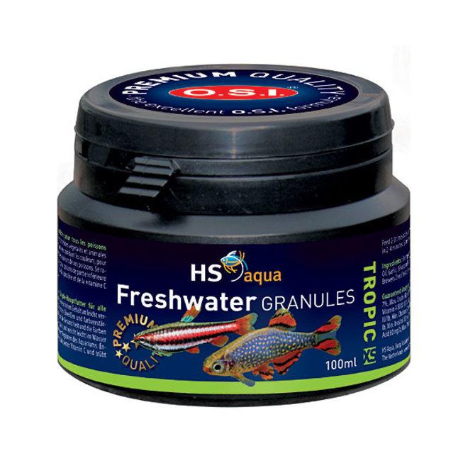 HS Aqua / O.S.I. Freshwater granules XS 100 ml/50 g, granulaatvoer