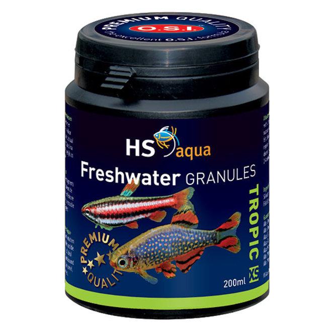 HS Aqua / O.S.I. Freshwater granules XS 200 ml/100 g, granulaatvoer