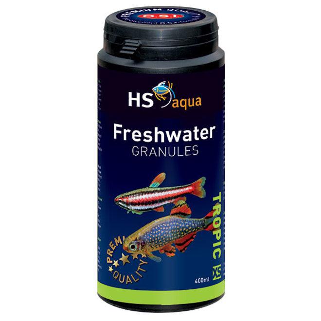 HS Aqua / O.S.I. Freshwater granules XS 400 ml/190 g, granulaatvoer