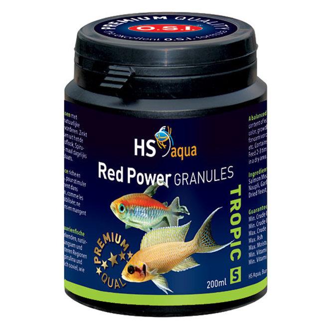HS Aqua / O.S.I. Red Power granules S 200 ml/100 g, granulaatvoer