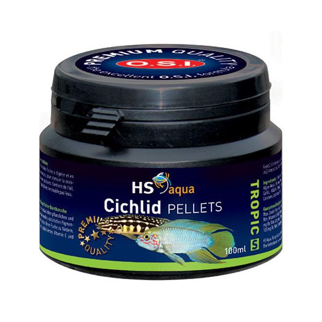 HS Aqua / O.S.I. Cichlid pellets S 100 ml/50 g, cichliden pellets