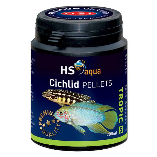 HS Aqua / O.S.I. Cichlid pellets S 200 ml/105 g, cichliden pellets