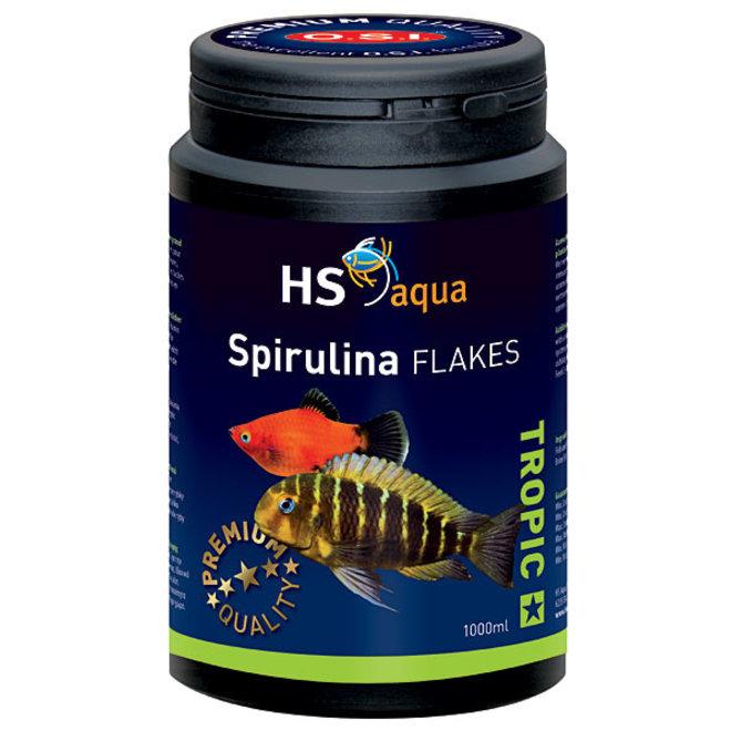 HS Aqua / O.S.I. Spirulina flakes 1000 ml/200 g, spirulina vlokkenvoer