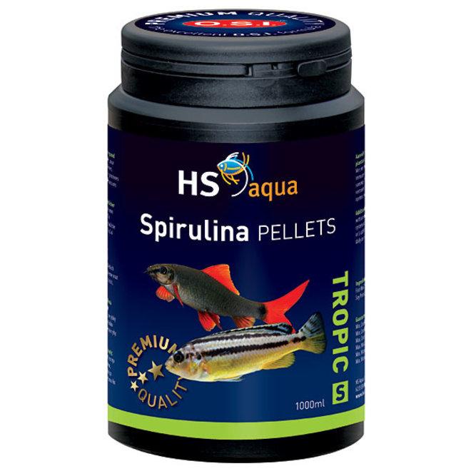 HS Aqua / O.S.I. Spirulina pellets S 1000 ml/525 g, spirulina pellets