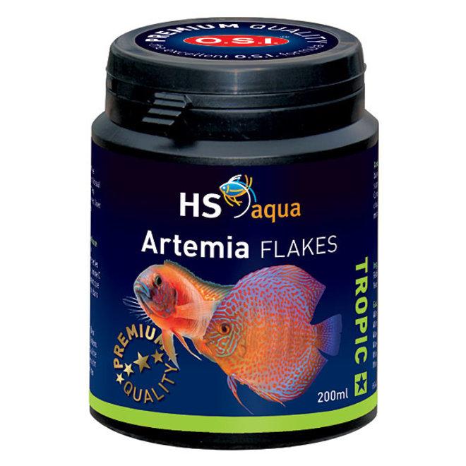 HS Aqua / O.S.I. Artemia flakes 200 ml/35 g, artemia vlokkenvoer