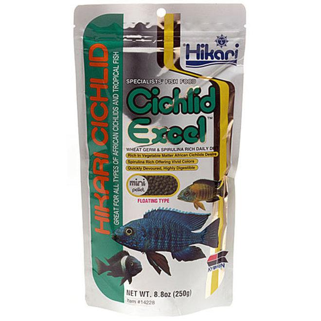 Hikari Cichlid Excel Mini pellet 250 gram, drijvende pellets
