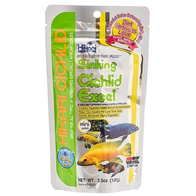 Hikari Cichlid Excel Mini pellet 342 gram, zinkende pellets