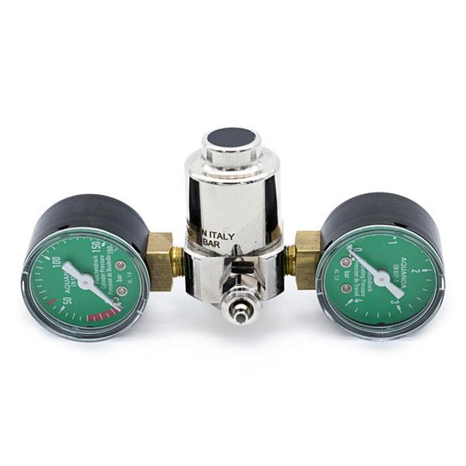 Aqua-Noa CO2 drukregelaar Basic 2 manometers voor wegwerpflessen