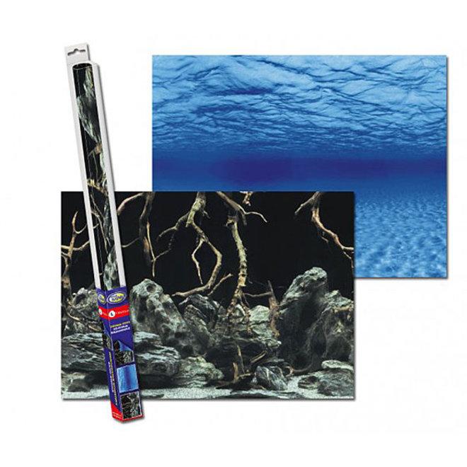 Aqua Nova achterwand poster XL 150x60 cm water / rots-takken motief