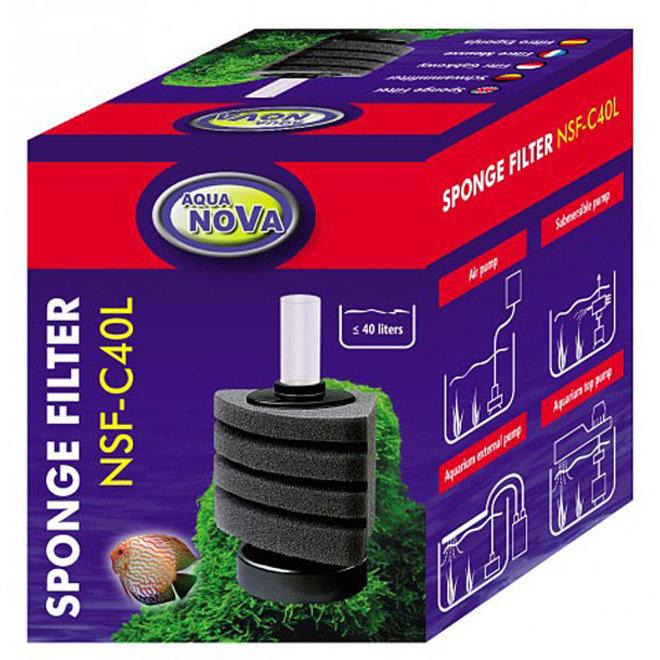 Aqua Nova sponsfilter NSF-C40L met vaste voet, tot 40 liter