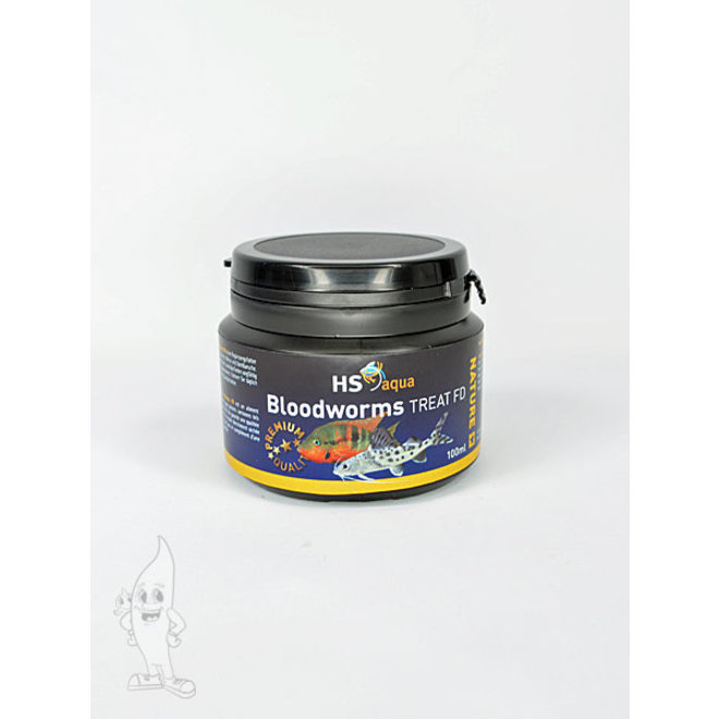 HS Aqua / O.S.I. bloodworms 100 ml/8 gram, gedroogde rode muggenlarven