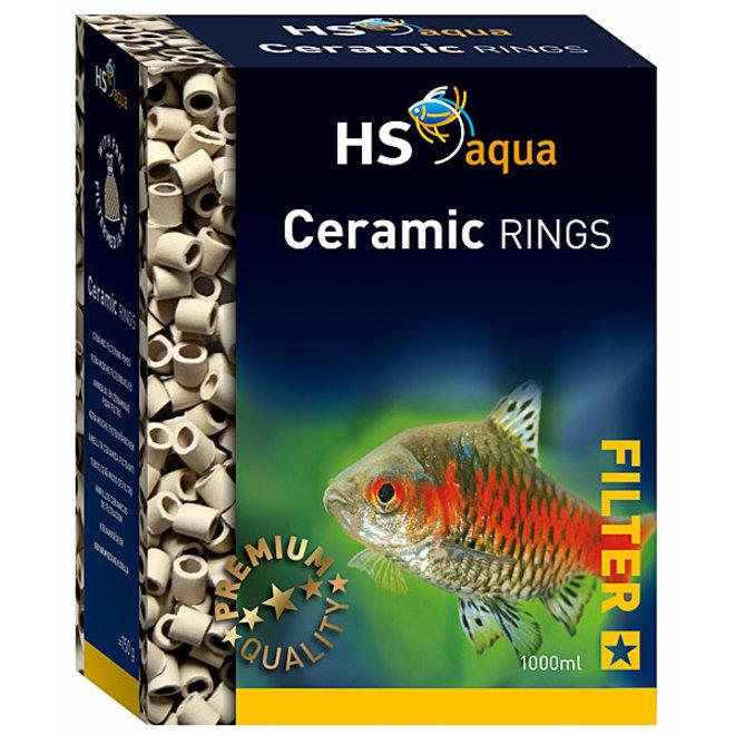 HS Aqua Ceramic Rings 1000 ml, biologisch materiaal