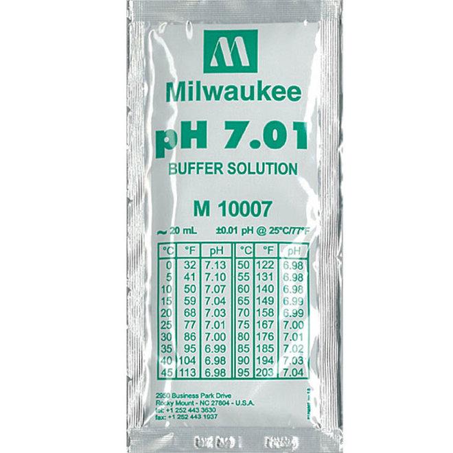 Milwaukee ijkvloeistof pH 7.01 20 ml zakje