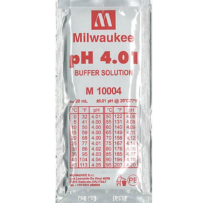 Milwaukee ijkvloeistof pH 4.01 20 ml zakje