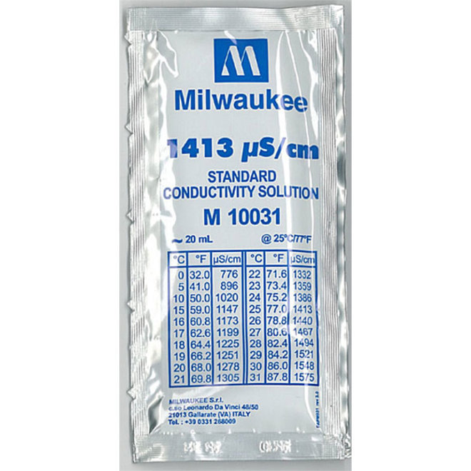 Milwaukee ijkvloeistof EC 1413 µS/cm 20 ml zakje