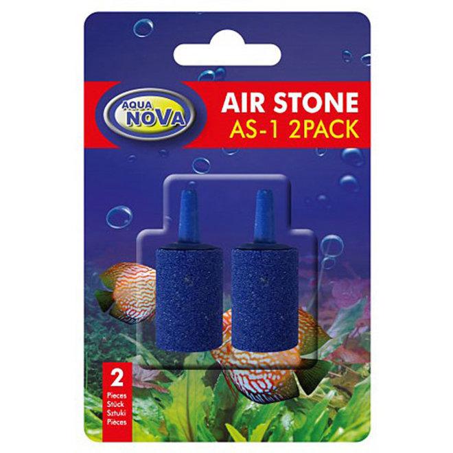 Aqua Nova luchtsteen cilinder blauw 25 mm, 2 stuks