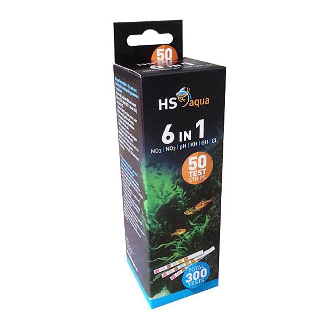 HS Aqua teststrips 6 in 1 test set