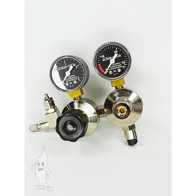 Aqua-Noa CO2 tweetraps dubbele kamer drukregelaar M voor hervulbare flessen