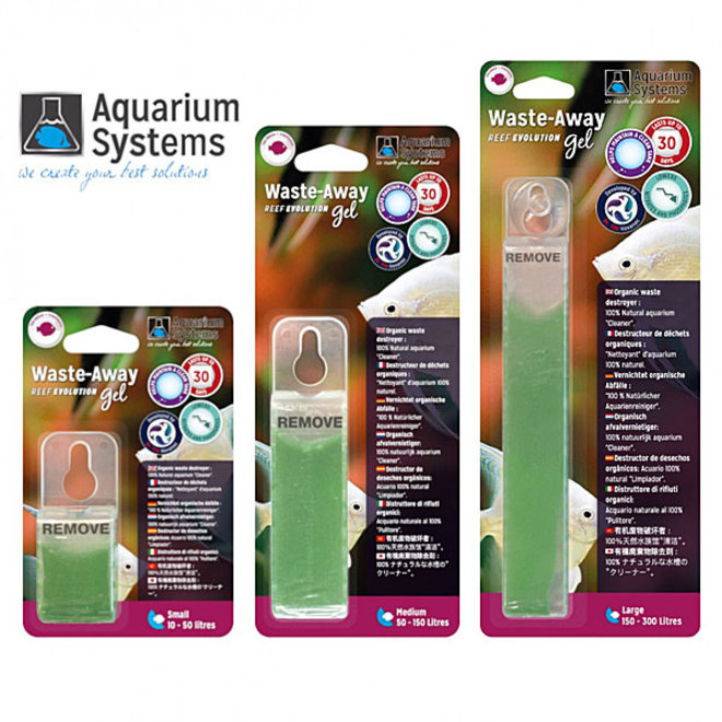 Aquarium Systems Waste Away Gel large voor aquaria 150-300 liter