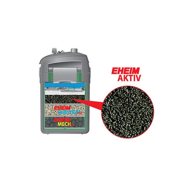 Eheim Aktiv actieve filterkool 2513101, 1 liter met perlonzak