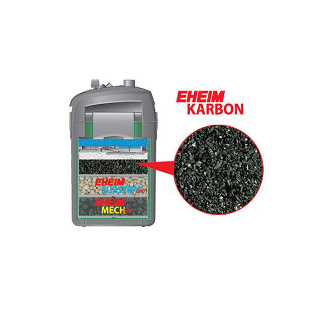 Eheim Karbon filterkool 2501401, 1 liter met perlonzak
