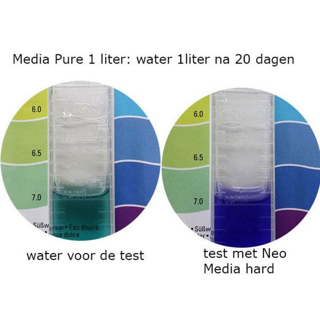 Aquario Neo Media Hard 1 liter, lichte pH verhoging