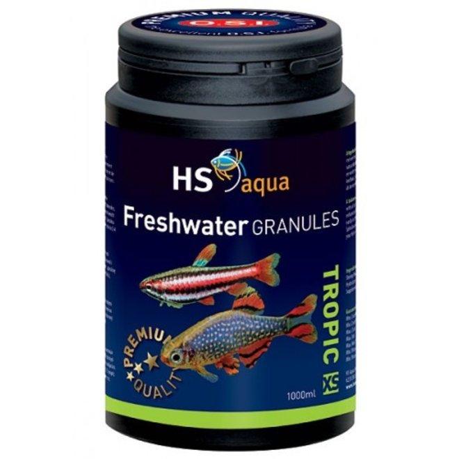 HS Aqua / O.S.I. Freshwater granules XS 1000 ml/475 g, granulaatvoer