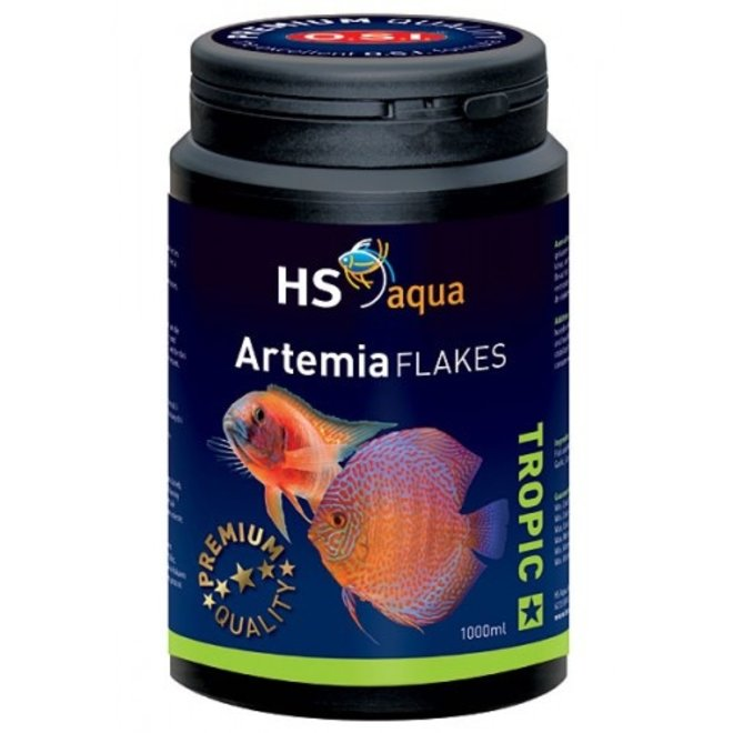 HS Aqua / O.S.I. Artemia flakes 1000 ml/200 g, artemia vlokkenvoer