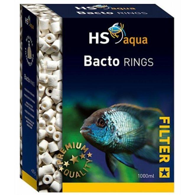 HS Aqua Bacto Rings 1000 ml/625 gram, biologisch materiaal