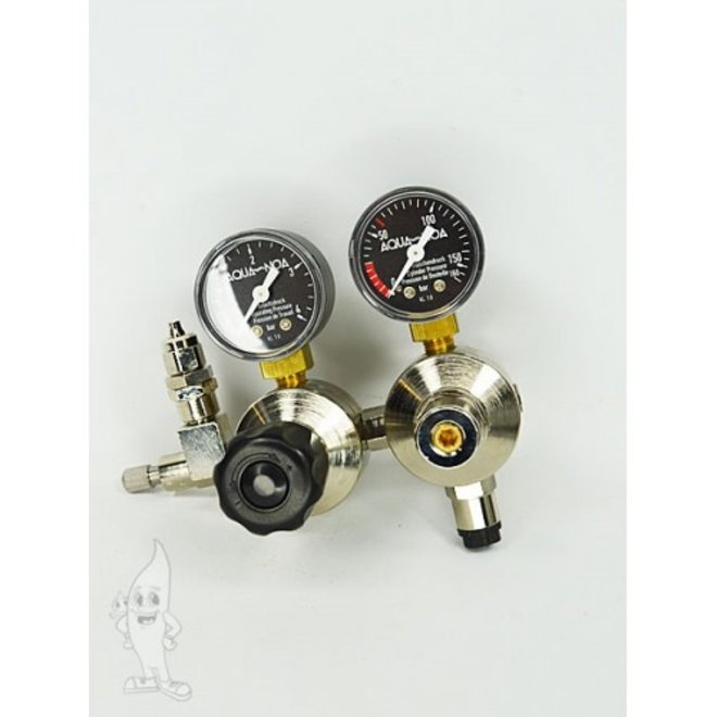 Aqua-Noa CO2 tweetraps dubbele kamer drukregelaar M+ voor hervulbare flessen