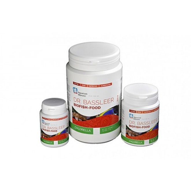 Dr. Bassleer Biofish Food chlorella XL 68 gram, granulaatvoer