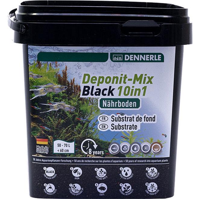 Dennerle Deponit-Mix black 10 in 1 voor aquaria tot 70 liter 2,4 kg