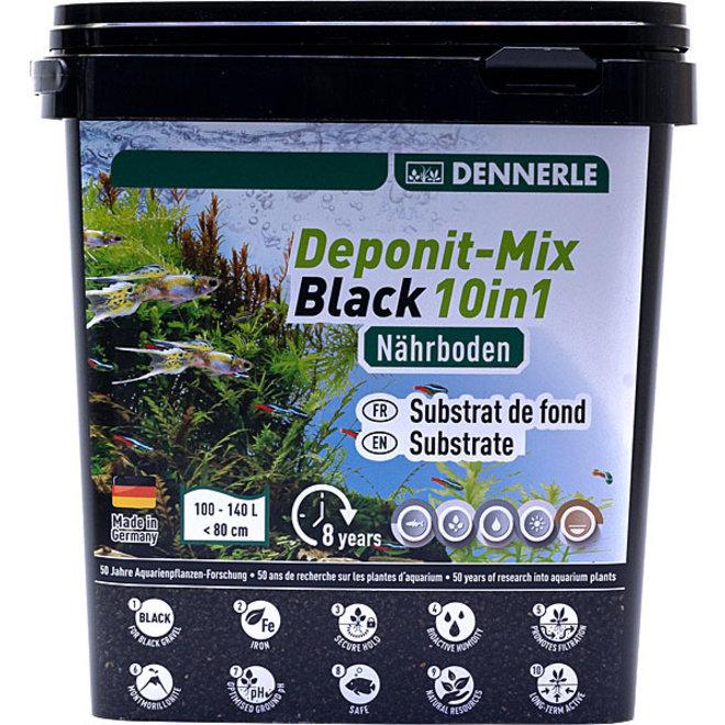Dennerle Deponit-Mix black 10 in 1 voor aquaria 100-140 liter 4,8 kg