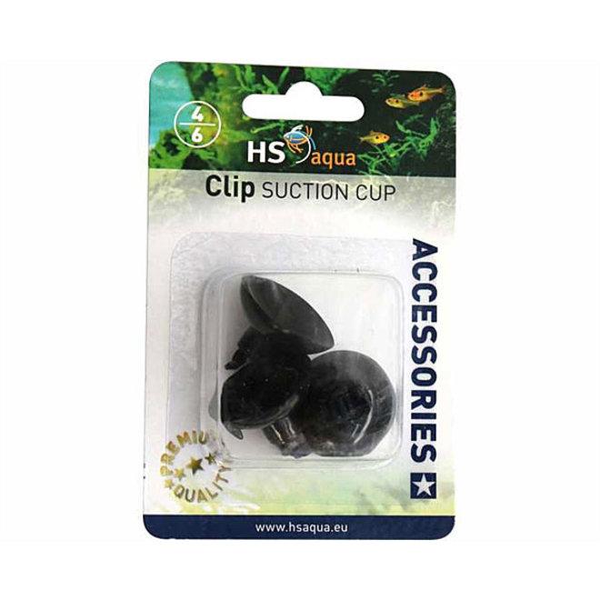 HS Aqua zuignap met clip 4/6 mm 3 stuks zwart