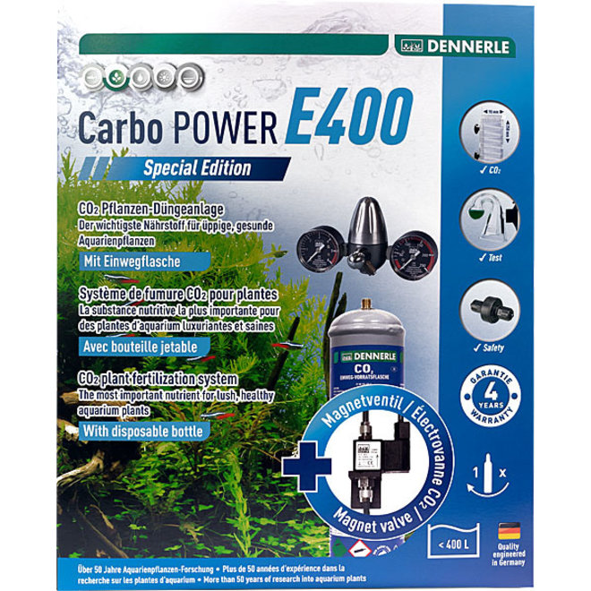 Dennerle Carbo POWER E400 Special Edition CO2 set met wegwerpfles tot 400 liter