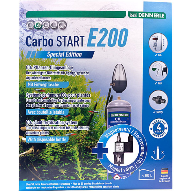Dennerle Carbo START E200 Special Edition CO2 set met wegwerpfles tot 200 liter