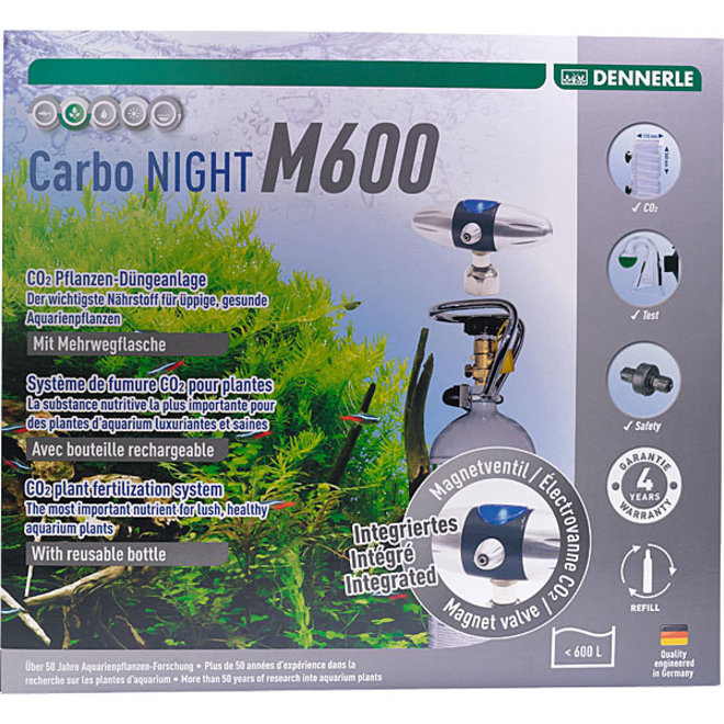 Dennerle Carbo NIGHT M600 CO2 set met hervulbare fles tot 600 liter