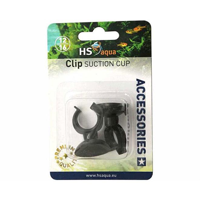 HS Aqua zuignap met clip 12/16 mm 2 stuks zwart