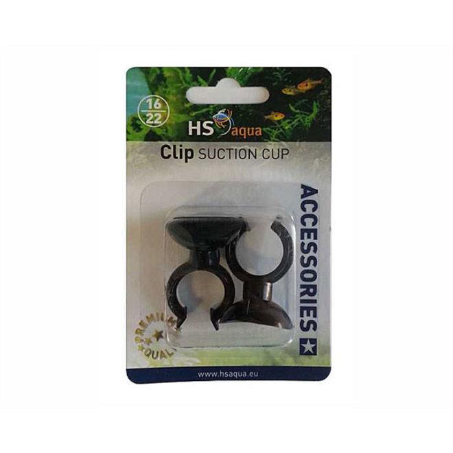 HS Aqua zuignappen met clip 16/22 mm 2 stuks zwart